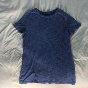Mossimo blue and white striped shirt